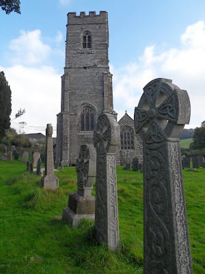 St Winnow Church Cornwall with Celtic Cross