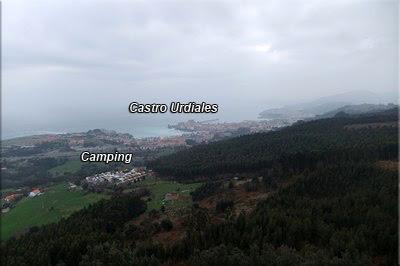 Vistas de la villa de Castro desde la torre