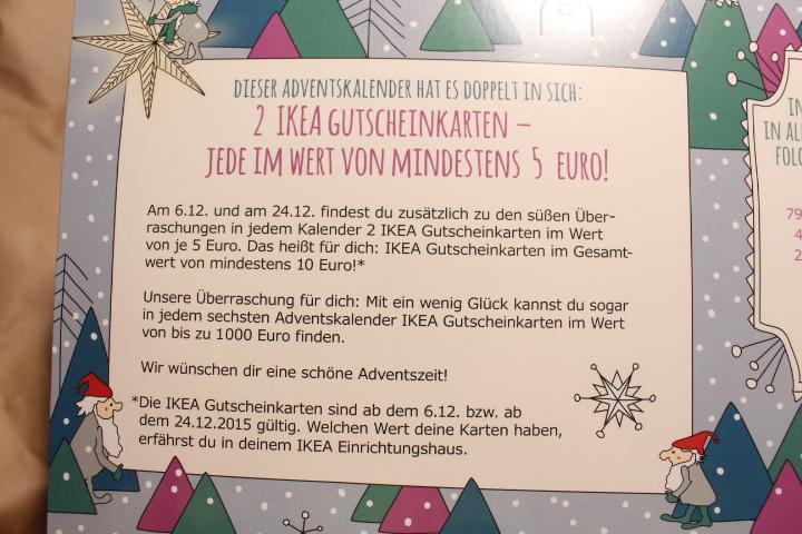 Zahnfeee s blog ikea adventkalender gewinnspiel for Ikea kalender