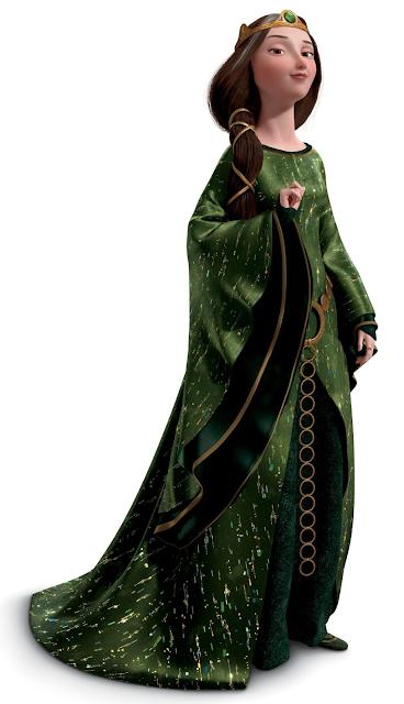 Desenho Valente Rainha Elinor colorido com fundo transparente