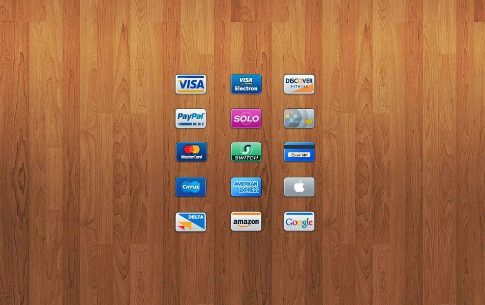 15 Credit/Debit Card Icons