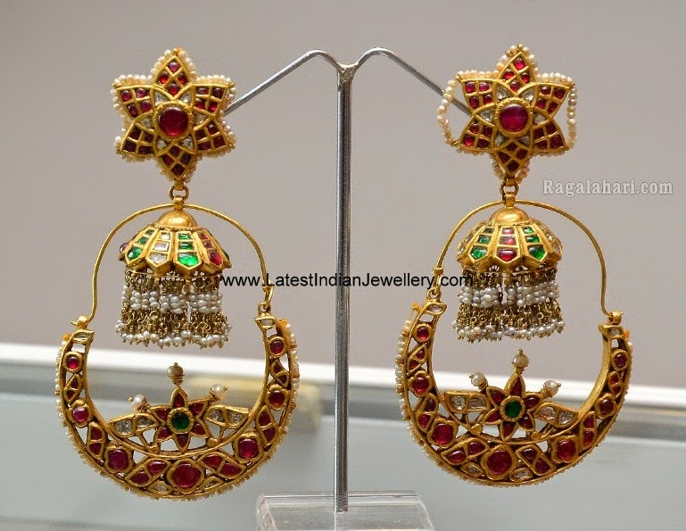 Fusion Jhumka Bali Earrings