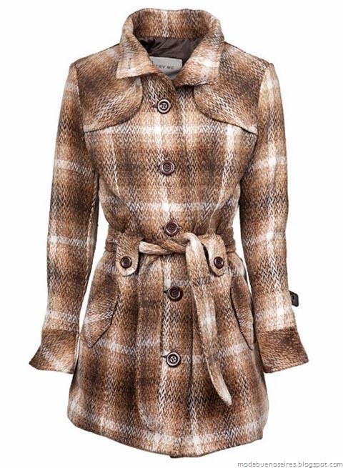 Abrigos invierno 2012. Camperas, tapados, sacos y montgomerys. Indumentaria femenina. Comprar ropa online.