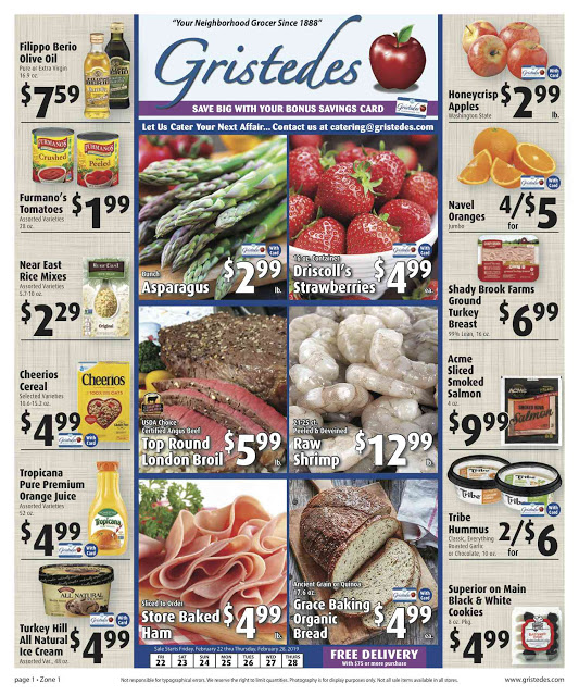 CHECK OUT ROOSEVELT ISLAND GRISTEDES Products, Sales & Specials For Feb 15 - Feb 21
