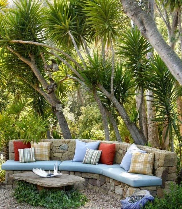 Bonito sill n con piedras para el jard n quiero m s dise o - Como hacer un jardin bonito y barato ...