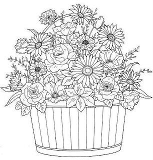Ángeles de pintura y flores