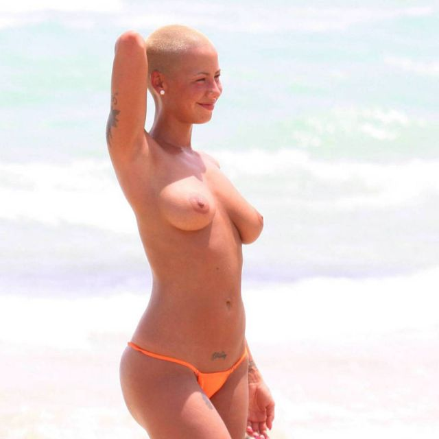 amber rose topless fat