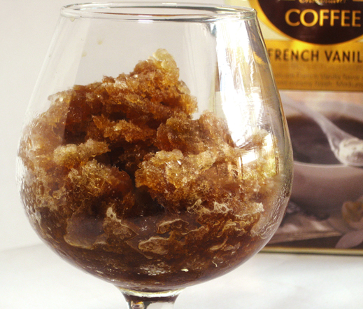 French Vanilla Coffee Granita