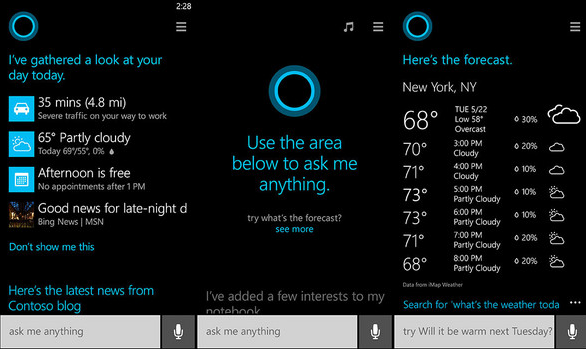 cortana windows 10 voice commands