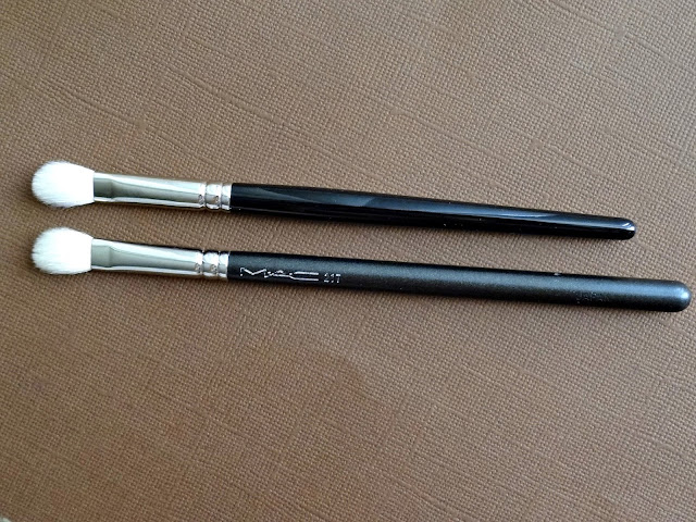 Hakuhodo J5523 Round & Flat Eye Shadow Brush Review, Photos & Comparison to MAC 217