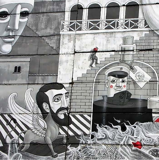 Street Art Collaboration By Roti And Aleksey Kislow on the streets of Kiev, Ukraine. 4
