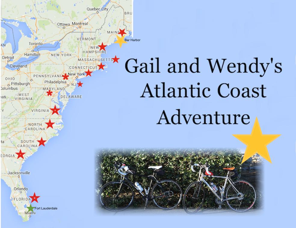 Gail and Wendy's Atlantic Coast Adventure