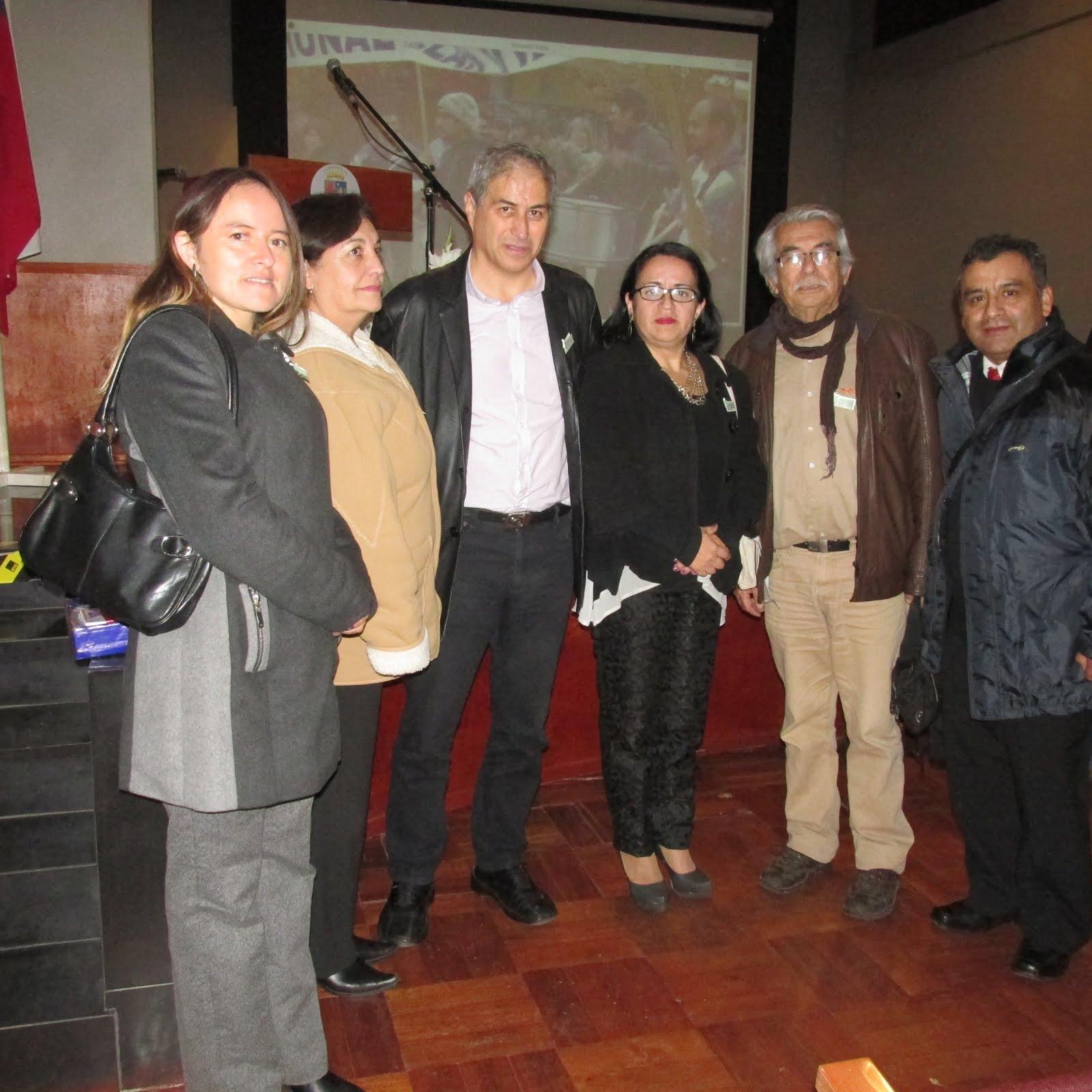 Directiva Comunal San Carlos y Mario Aguilar Presidente Nacional