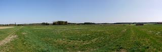 Panoramabild aus drei Fotos aus der Nordwestecke der Keltenschanze Buchendorf