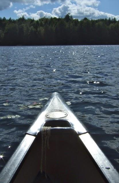Canoe on Osgood Pond
