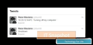 Cara Shutdown Komputer Via Twitter