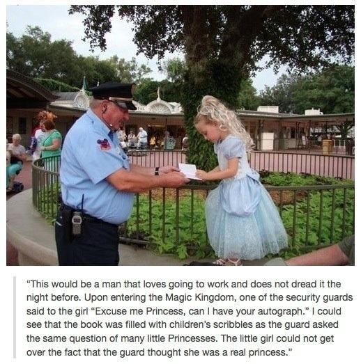 26 Moments That Will Restore Your Faith In Humanity Again - This Disney security is just amazing