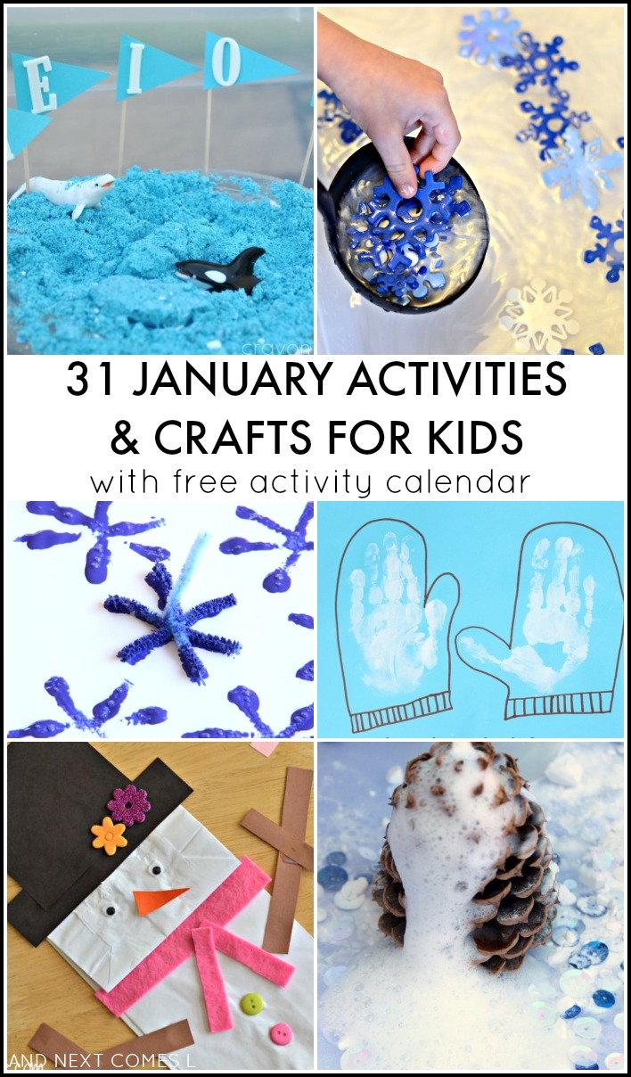Calendar Craft For Toddlers : January activities for kids free activity calendar
