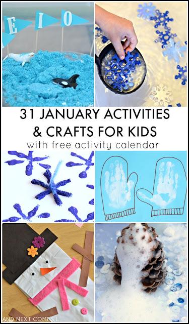 January Calendar Kids : January activities for kids free activity calendar