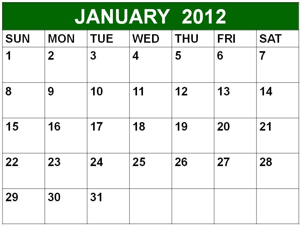 calendar january 2012. calendar 2012 january.