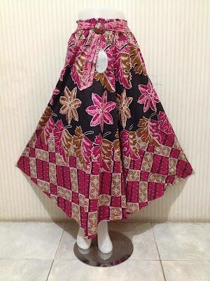 Model Rok Batik Payung Muslimah Grosiran