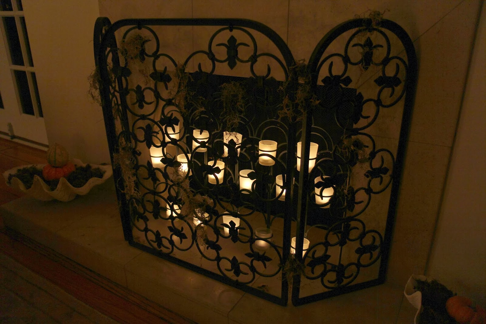 Spooky Glam Halloween Party - Fireplace Screen