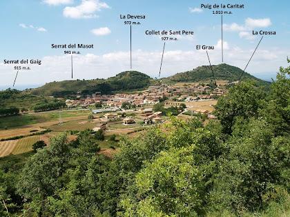 Panoràmica de L'Estany des del camí de La Monjoia