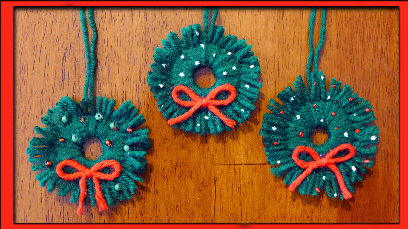 Easymeworld easy homemade christmas ornaments for Easy to make christmas decorations at home