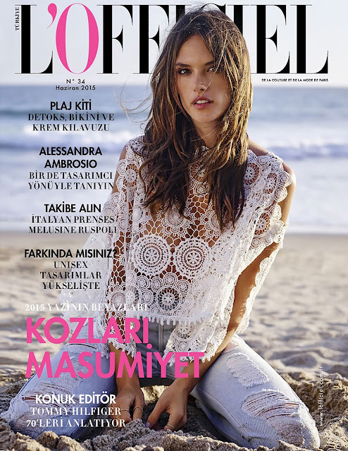 Supermodel, Actress @ Alessandra Ambrosio for L'Officiel Turkey, June 2015