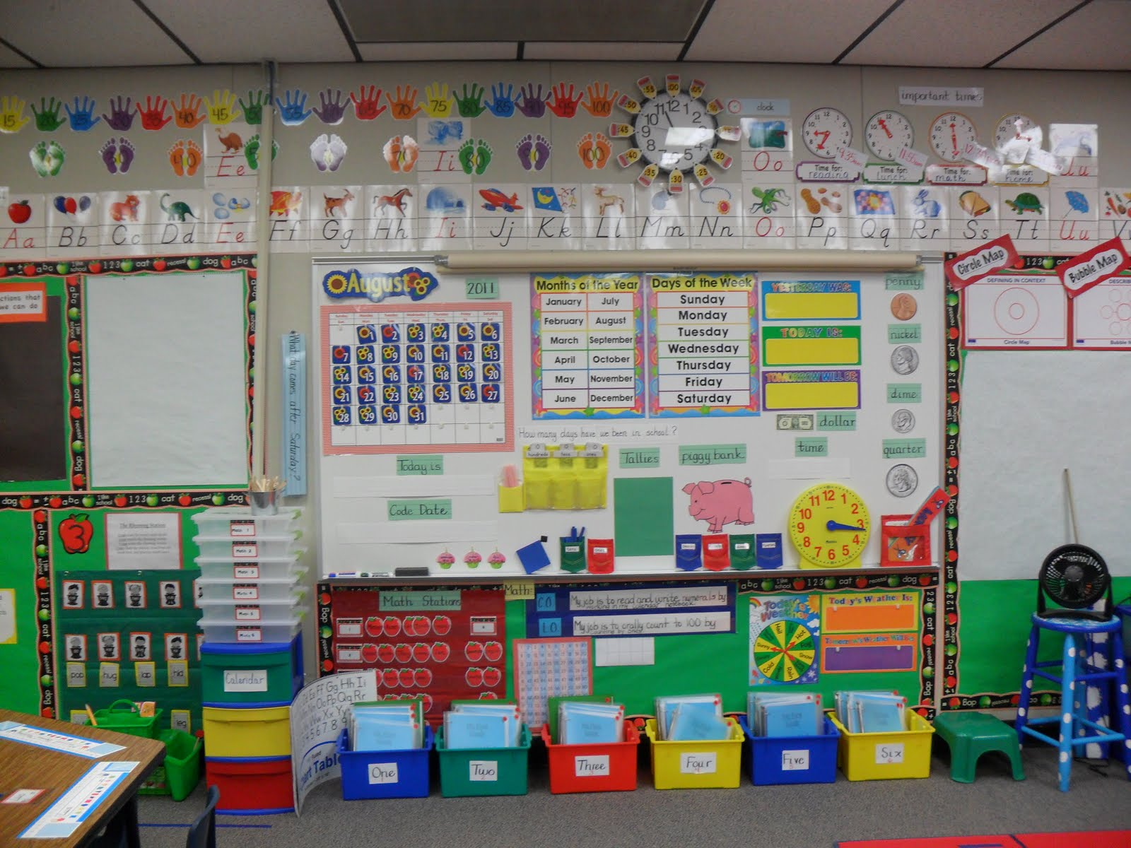 Kindergarten Calendar Math Ideas : Back to school