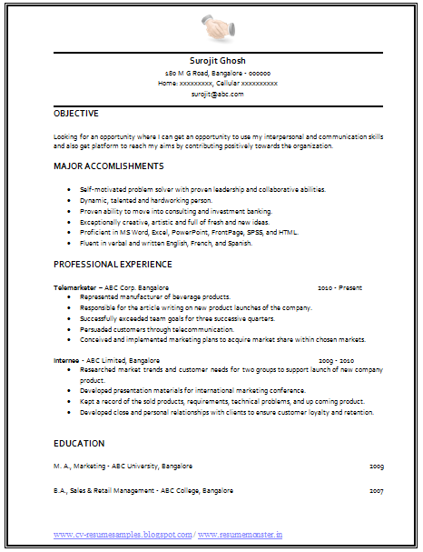 over 10000 cv and resume samples with free download cv format for salesman