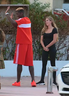 Paul Pogba chills with mystery blonde again in Miami