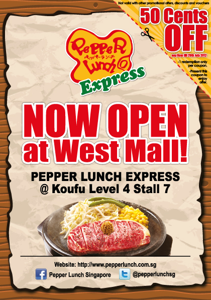 ivan wong pepper lunch express west mall opening flyer design