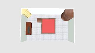 kamar tidur minimalis dilihat dari atas