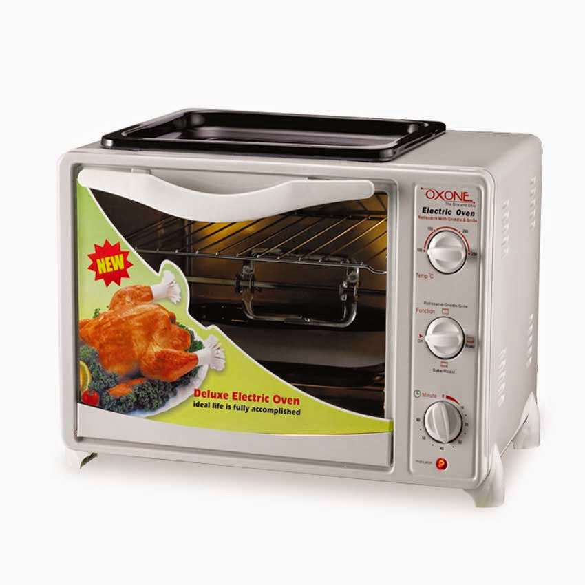 6 Oxone Ox 858br 4in1 Oven Bbq Rottiseries Pick Hitam