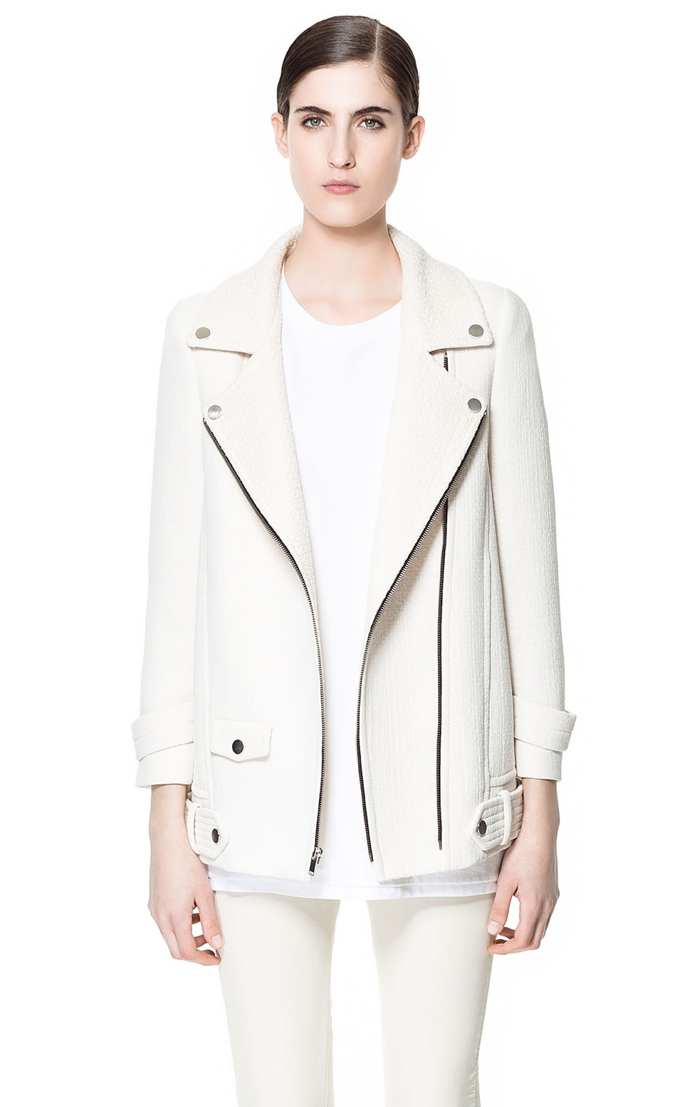 ZARA NEW COLLECTION 2013. SPRING COMBINATION COAT JACKET WITH ZIPS. BLOGGERS. | eBay
