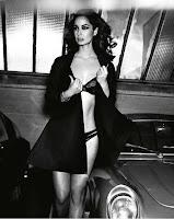 Berenice Marlohe wearing black lingerie