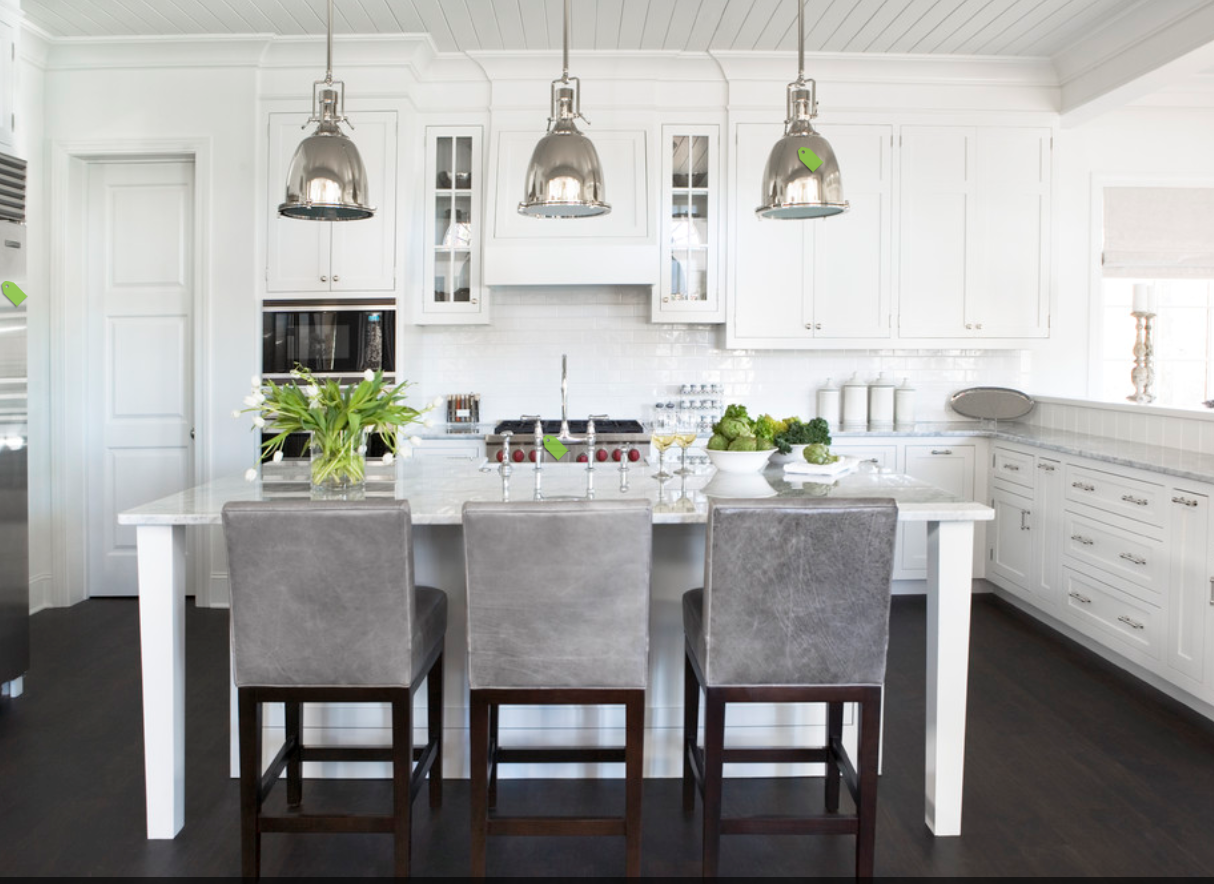 building our house of grey and white kitchen island pendants