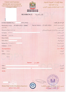 UAE Residence Entry Permit