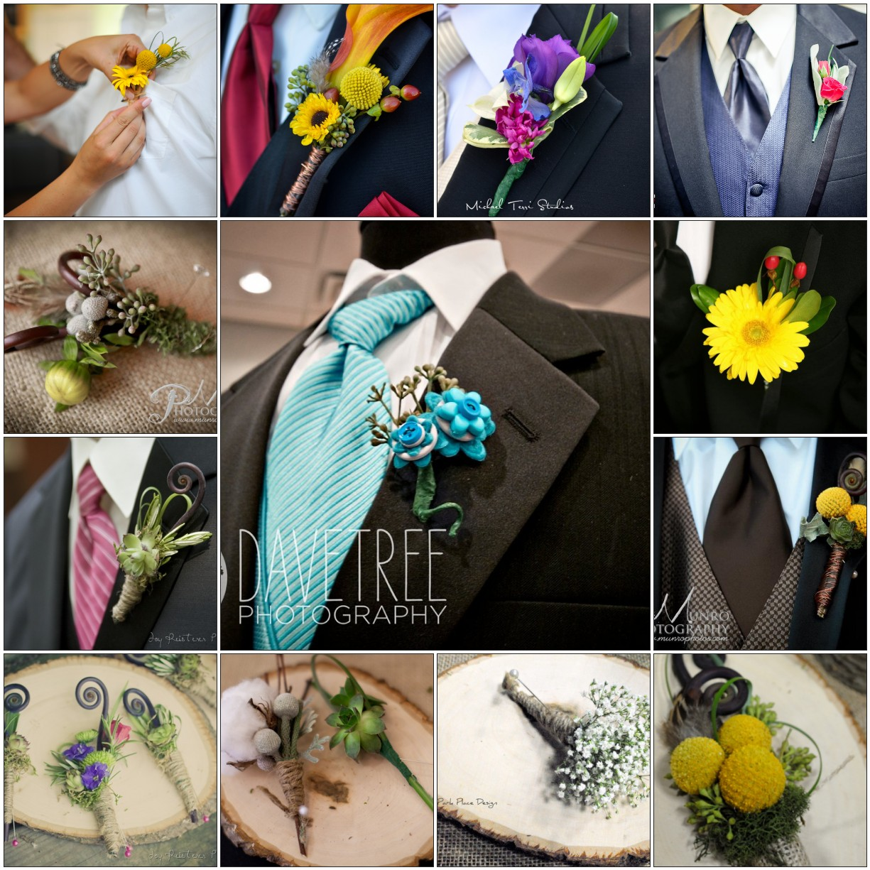 flowers lapel wedding