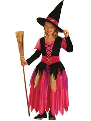 Hekse kostume i pink