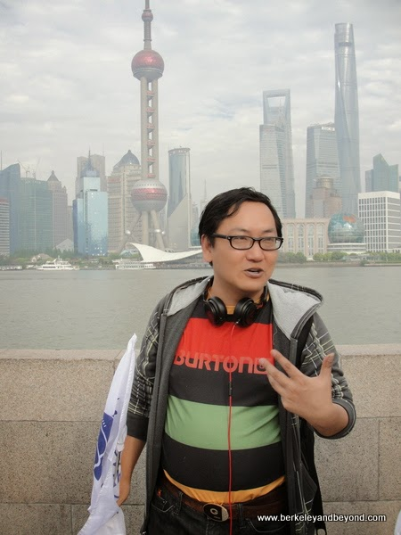 tour guide Henry at The Bund in Shanghai, China