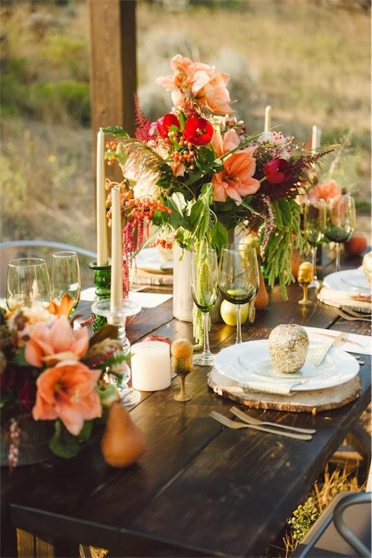 decorar mesa boda al aire libre