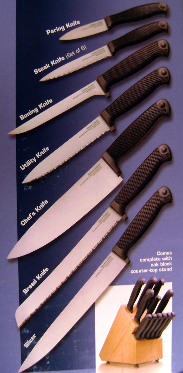 Skl diy uptown cold steel kitchen classic knife set 59k set for Steel kitchen set