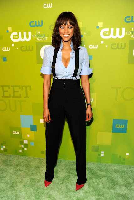Hot USA Model Tyra Banks Latest Pictures at CW Network's 2011 Upfront