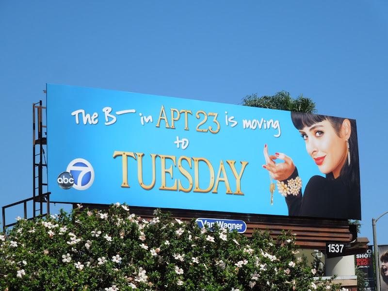 B in Apt 23 Tuesday billboard