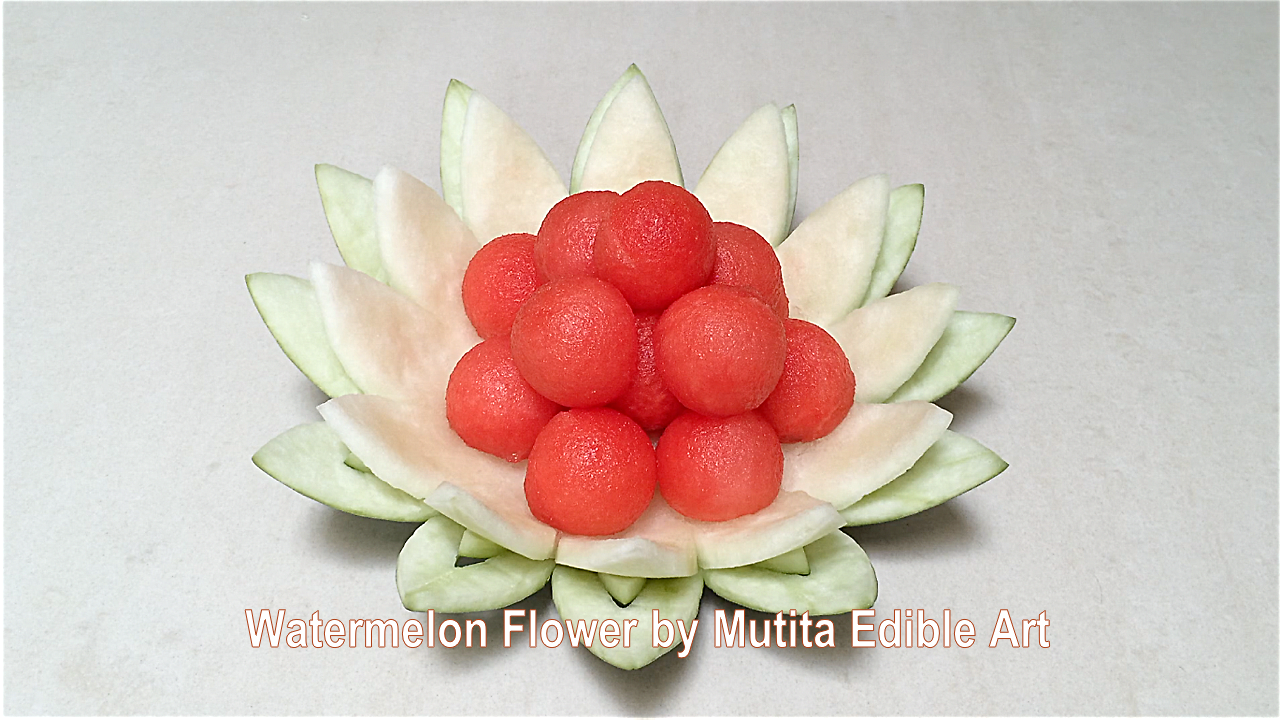 Fruit carving easy simple watermelon flower design