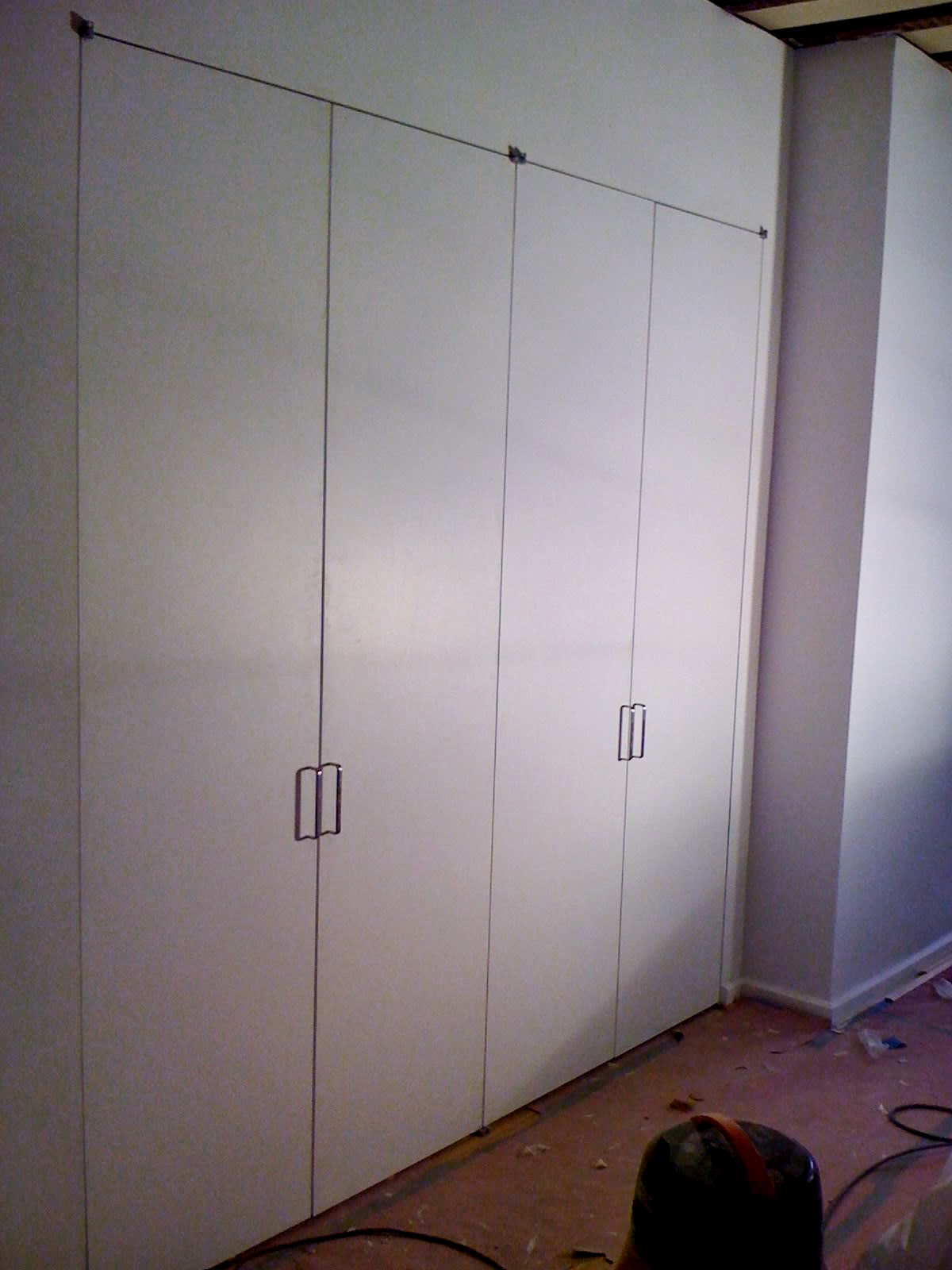 Marvelous Example Of Flush Jamb Closet Doors With Offset Pivot Hinges