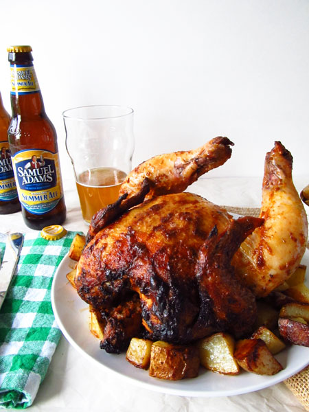 Chili and Lime Beer Can Chicken with Crispy Potatoes