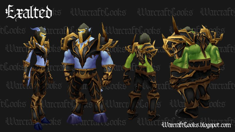 Exalted Set - Plate (Click to Enlarge) & Warcraft Looks: Great Looking Uncommon Plate Sets